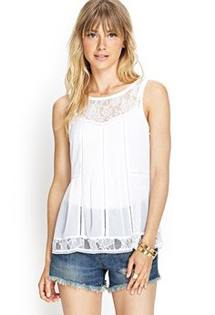 Pleated Lace Top | FOREVER 21 - 2000123566