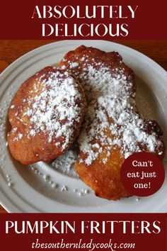 Delicious, easy recipe for pumpkin fritters. Wonderful with coffee. Sweets Recipes, Fun Desserts, Coffee Recipes, Pastries Recipes, Cooking Recipes, Pumpkin Pie Mix, Pumpkin Pie Recipes, Desert Recipes, Fall Recipes