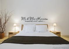 Personalised Mr & Mrs Happily Ever After - Vinyl Wall Art Sticker Decal