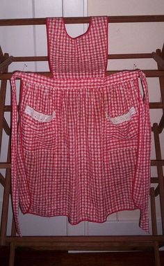 Old Fashion Apron...all women in the family wore them when cooking/ house cleaning.