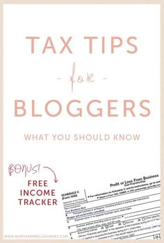 If you sell e-courses, product, participate in affiliate programs, or write sponsored posts and make over $400 net income, you should be filing a tax form for your self-employed income. Find out whether you should be filing, what to do, and examples of taxable income and business expenses here, and download a free income tracker here.