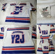 WWF WWE 1990's 100% AUTHENTIC CHRIS JERICHO Y2J Hockey Jersey Shirt 2XL 54 - http://bestsellerlist.co.uk/wwf-wwe-1990s-100-authentic-chris-jericho-y2j-hockey-jersey-shirt-2xl-54/