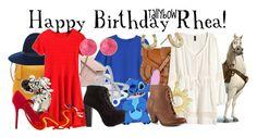 """Happy Birthday Rhea!"" by tallybow ❤ liked on Polyvore featuring Henri Bendel, rag & bone, Andrew Hamilton Crawford, Qupid, MANGO, Warehouse, Saachi, Charlotte Russe, H&M and Kate Spade"