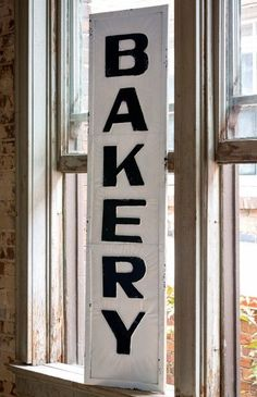 """Old-fashioned bakery sign Measures 58"""" long"""