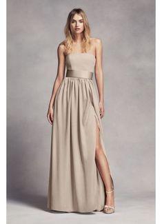 White by Vera Wang Long Strapless Bridesmaid Dress VW360307 Champagne Bridesmaid  Dresses 2c963096d4ea