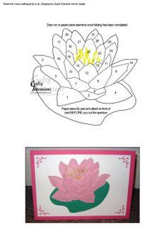 Iris Paper Folding Templates | Home : Iris Folding : Flowers / Floral : Waterlily Flower Iris Folding ...