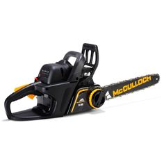 Market entry McCulloch CS360T petrol chainsaw with 36cc OxyPower low emission engine and 36cm cutting bar.