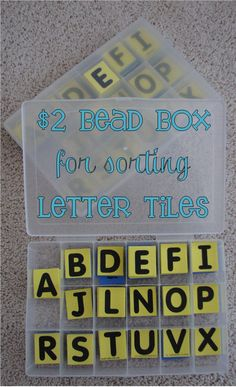 $1 letters + $2 tray = $3 easy peasy Word Work materials, and neatly organized