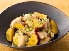 さつまいもと豚バラ肉の甘辛炒めのレシピ・作り方・食材情報を無料でご紹介しているページです。