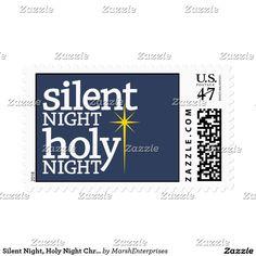 Silent Night, Holy Night Christian Christmas Stamp