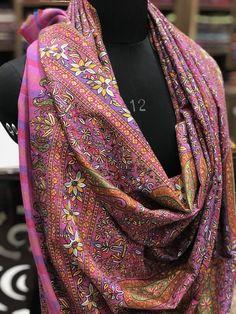 Soft Indian Pashmina brodé Châle Kani Ladies hiver châles Wrap étole UK