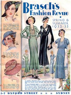 Brasch's Fashion Revue Spring & Summer 1932-33.
