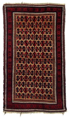Baluch. Slight signs of wear, original selvedges, remains of the kilim finishes survive. Origin: North East Persia, Khorasan Dimensions: 157 x 90 cm Age: Late 19th century Estimate: 950.00 €