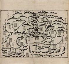 Andong, Seoul map. 서울대학교 규장각 지리지 종합정보 - 영남읍지(규12173)_안동 1871