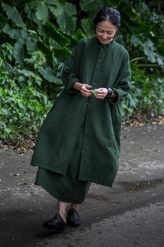 Dress, Long Jacket linen April, 2017 Photograph by Yuriko Takagi