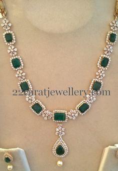 Swarovski CZs and Emeralds Set