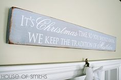 Cute Christmas craft.  The House of Smiths - Home DIY Blog - Interior Decorating Blog - Decorating on a Budget Blog