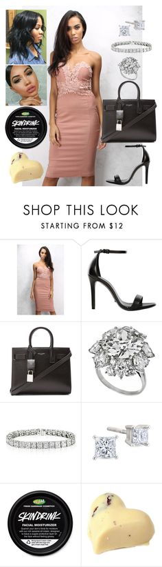 """""""Wimbledon: July 18"""" by allison-syko ❤ liked on Polyvore featuring Rare London, Schutz, Yves Saint Laurent and Bulgari"""