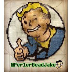 Fallout perler beads by  perlerbeadjake