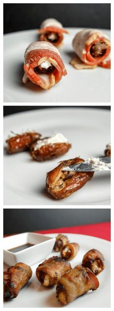 Bacon Dates with Goat Cheese
