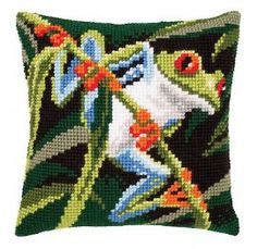 crossstitch frog - Google Search