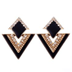 2016 New Fashion Accessories Jewelry Vintage Brand Crystal Stud Earrings For Women