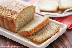 An easy recipe for a quick, filling and tasty almond flour bread.