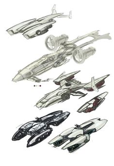 Starship Sketches by Transbot9