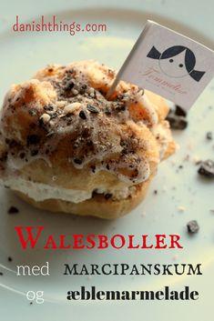 Walesboller med marcipanskum og æblemarmelade © danishthings.com