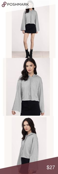 "Isabella Bell Sleeved Hoodie This fierce flared sleeve hoodie featuring long bell sleeves and pockets is the perfect throw-on-and-go piece for effortless stylin' even on those off-duty days.  Cotton Imported  Dry Flat DETAILS & FIT  Length: 17""/43.2cm Sleeve Length: 20""/50.8cm Front pockets Measured in size Small Honey Punch      MayMaysBoutique Tops Sweatshirts & Hoodies"