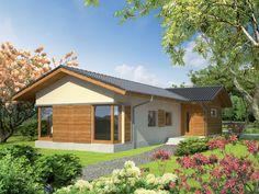 DOM.PL™ - Projekt domu AC Bil G1 CE - DOM AF3-63 - gotowy koszt budowy Home Fashion, Cabin, Mansions, House Styles, Modern, Home Decor, Trendy Tree, Decoration Home, Manor Houses