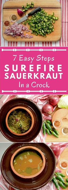 Fermentation Crocks: The What? of fermenting in a water-sealed crock with weights and lid. Ferment your sauerkraut with ease. Making Sauerkraut, Homemade Sauerkraut, Sauerkraut Recipes, Fermentation Recipes, Canning Recipes, Healthy Cooking, Healthy Recipes, Sweets Recipes, Eating Healthy