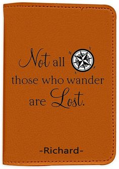 Not All Who Wander Are Lost [Name Customized] Leather Passport Holder - Leather Passport Cover - Travel Accessory- Travel Wallet for Women and Men_SCORPIOshop: Amazon.ca