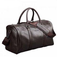 Mens Large Genuine Leather Travel Bags Luggage Handbag Shoulder Duffle Gym Bags - Travel Duffel Bags - Ideas of Travel Duffel Bags