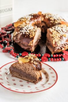 roscon de reyes de chocolate relleno de chocolate