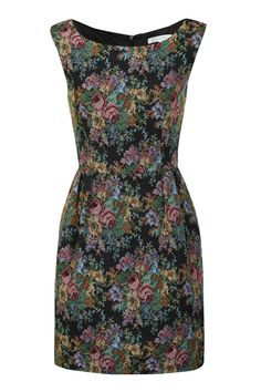 Floral Tapestry Print Dress