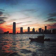 New York City Sunset from Merchants River House