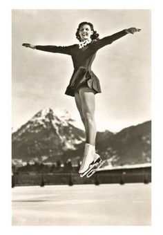 a mazurka jump usually performed as part of a footwork sequence but back in the day it was a popular pose for a picture!
