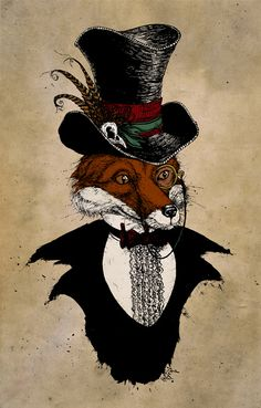 Victorian Animals by David Procter, via Behance