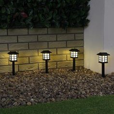 Solar Powered LED Stake Light for Gardens and Pathways in Warm White by Festive Lights Pack) Driveway Lighting, Pathway Lighting, Landscape Lighting, Outdoor Lighting, Outdoor Lamps, Lighting Ideas, Pergola Lighting, Interior Lighting, Modern Lighting