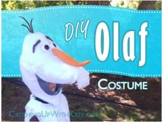 Our DIY Olaf Costume for Halloween!
