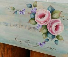 Fabric Painting, Painting & Drawing, Rosemaling Pattern, Fabric Paint Designs, Tole Painting Patterns, One Stroke Painting, My Drawings, Folk Art, Beautiful Flowers