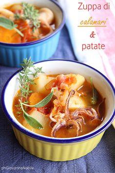 Zuppa di calamari e patate