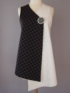 Kimono Jacket in White and Black