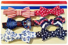 Hey, I found this really awesome Etsy listing at https://www.etsy.com/listing/529804875/patriotic-bowties-4th-of-july-bowties