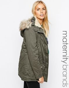 3e0d572ddc7f7 New Look Maternity Hooded Parka Coat Maternity Fashion, Maternity Coats,  Maternity Winter Coat,