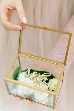 Geometric wedding ring box via 4lovepolkadots / http://www.deerpearlflowers.com/modern-copper-marble-wedding-inspiration/