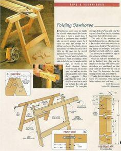 #1959 Folding Sawhorse Plan - Workshop Solutions