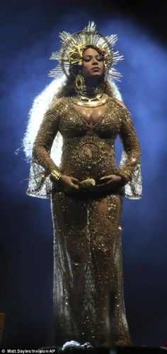 Queen Bey! The hitmaker showcased her belly in a sequin gown while sporting a crown...