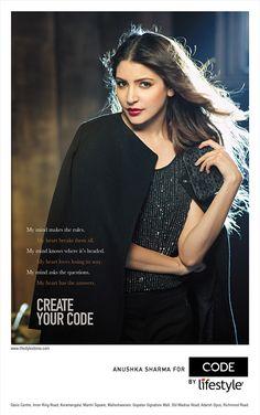 Actress Anushka Sharma, Anushka Sharma, Anushka Sharma Pictures, April 2015, brand ambassador, Brand Code, fashion label, Lifestyle Photoshoot
